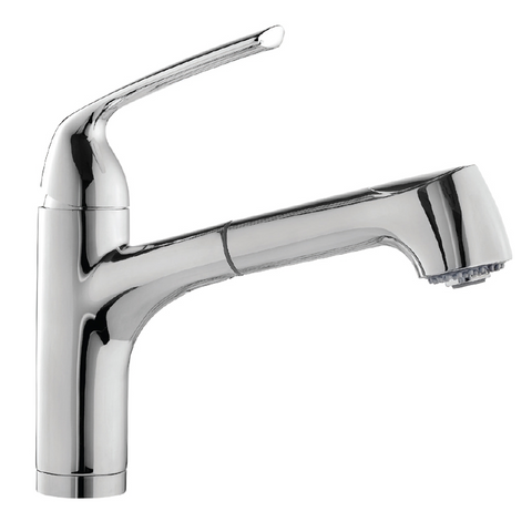 Houzer Calia Pull Out Bar Faucet with CeraDox Technology Polished Chrome, CALPO-559-PC