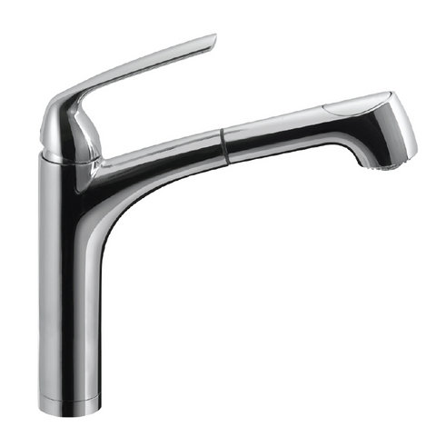 Houzer Calia Pull Out Kitchen Faucet with CeraDox Technology Polished Chrome, CALPO-561-PC