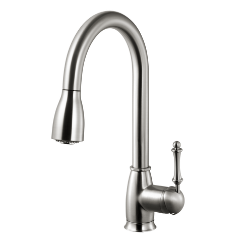 Houzer Camden Pull Down Kitchen Faucet Brushed Nickel, CAMPD-368-BN