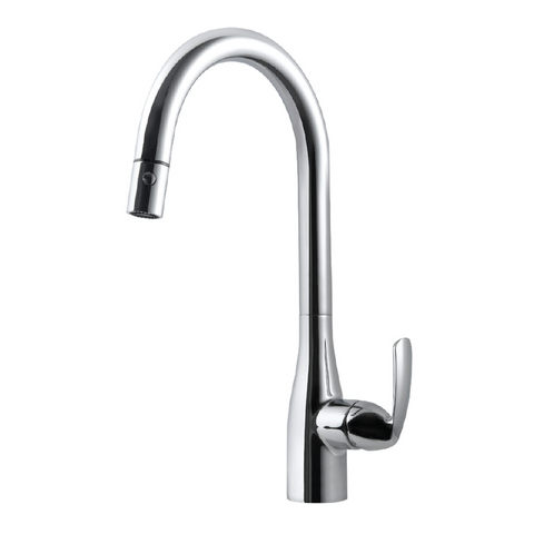 Houzer Cora Pull Down Kitchen Faucet with CeraDox Technology Polished Chrome, CORPD-569-PC