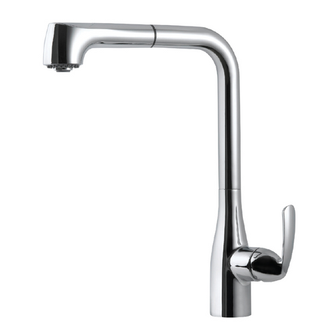 Houzer Cora Pull Out Kitchen Faucet with CeraDox Technology Polished Chrome, CORPO-554-PC