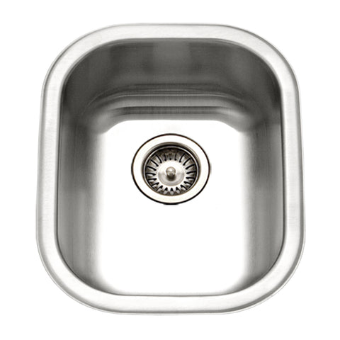 "Houzer 14"" Stainless Steel Undermount Bar/Prep Sink, Medium, CS-1407-1"