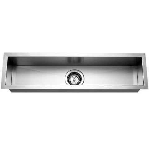 "Houzer 32"" Stainless Steel Undermount Bar/Prep Sink, Rectangle, CTB-3285"