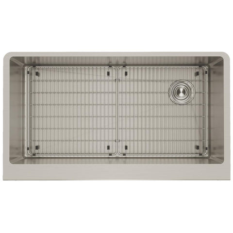 "Elkay Crosstown 36"" Stainless Steel Farmhouse Kitchen Sink, Polished Satin, CTXF134179RC"