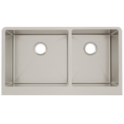 "Elkay Crosstown 36"" Stainless Steel Farmhouse Kitchen Sink, 55/65 Double Bowl, Polished Satin, CTXF234179"