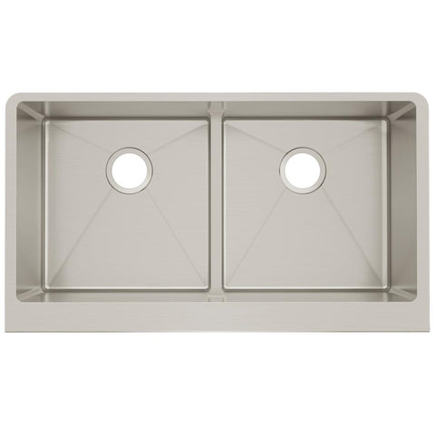 "Elkay Crosstown 36"" Stainless Steel Farmhouse Kitchen Sink, 50/50 Double Bowl, Polished Satin, CTXFA34179"