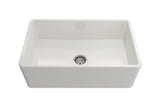 "Crestwood 30"" Fireclay Farmhouse Sink, White, CW-CL-30-WHITE"