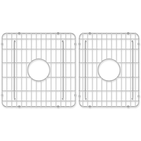 "Crestwood Sink Grids for 33"" Fireclay Double Bowl Farmhouse Apron Sink, CW-GRID-DBL33 - The Sink Boutique"