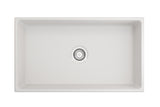 "Crestwood 33"" Fireclay Farmhouse Sink, White, CW-MOD-33-WHITE"