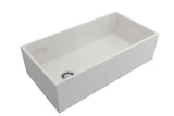 "Crestwood 36"" Fireclay Farmhouse Sink, White, CW-MOD-36-WHITE"