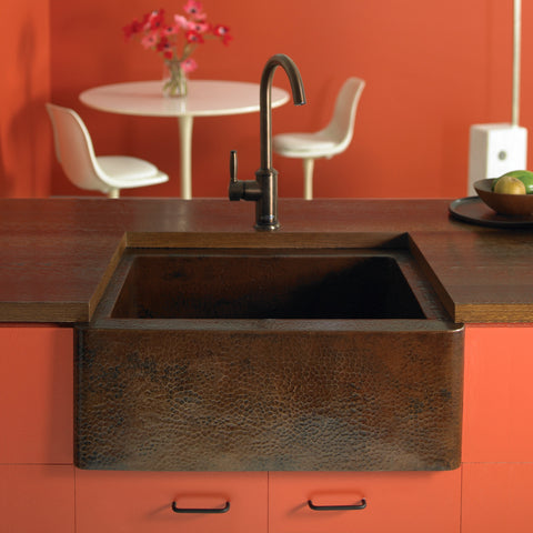 "Native Trails Cabana 18"" Copper Farmhouse Sink, Antique Copper, CPS213"
