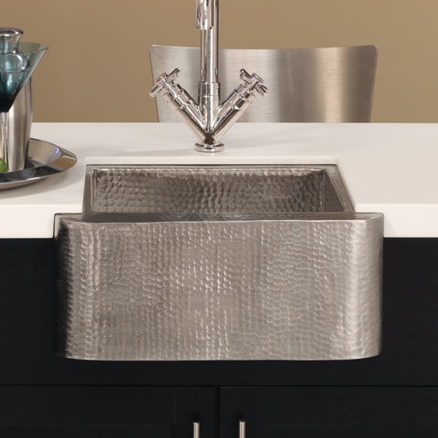"Native Trails Cabana 18"" Nickel Farmhouse Sink, Brushed Nickel, CPS513"