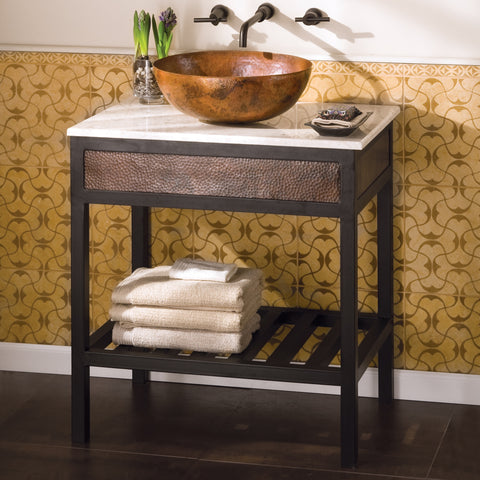 "Native Trails 30"" Carrara Vanity Top - Vessel Cutout with No Faucet Hole, VNT30-CV"