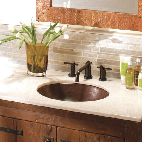 "Native Trails Classic 19"" Rectangle Copper Bathroom Sink, Antique Copper, CPS268"