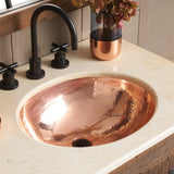 "Native Trails Classic 19"" Rectangle Copper Bathroom Sink, Polished Copper, CPS468"