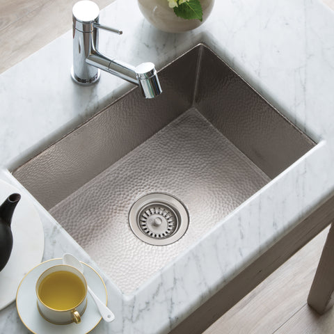 "Native Trails Cocina 22"" Nickel Kitchen Sink, Brushed Nickel, CPK578"