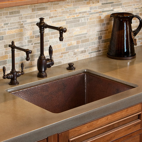 "Native Trails Cocina 24"" Copper Kitchen Sink, Antique Copper, CPK279"