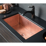 "Native Trails Cocina 30"" Copper Kitchen Sink, Polished Copper, CPK493"