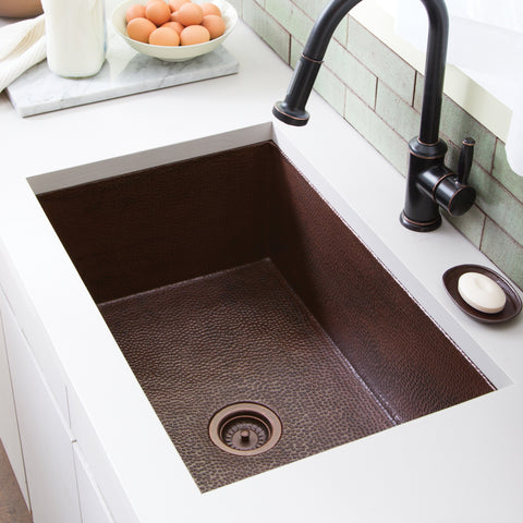 "Native Trails Cocina 33"" Copper Kitchen Sink, Antique Copper, CPK272"