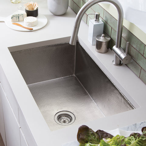 "Native Trails Cocina 33"" Nickel Kitchen Sink, Brushed Nickel, CPK572"