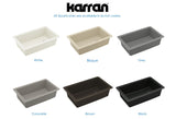 "Karran 32"" Quartz Kitchen Sink, Black, QU-670-BL"