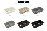 "Karran 33"" Quartz Kitchen Sink, 50/50 Double Bowl, Brown, QU-710-BR"