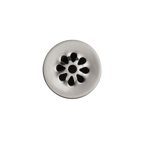 "Premier Copper Products 1.5"" Non-Overflow Grid Bathroom Sink Drain - Brushed Nickel, D-207BN"