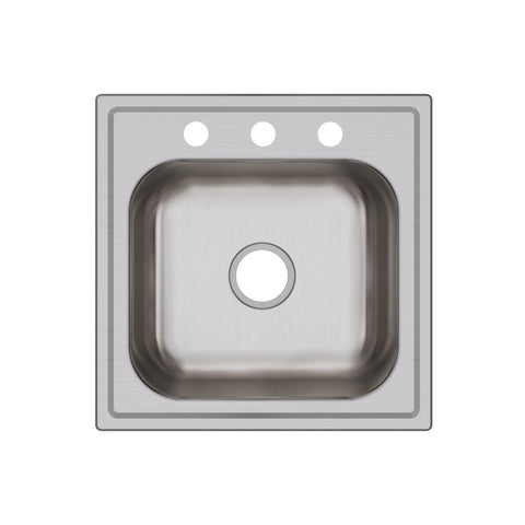 "Elkay Dayton 20"" Stainless Steel Laundry Sink, Premium Highlighted Satin, DPC12020103"