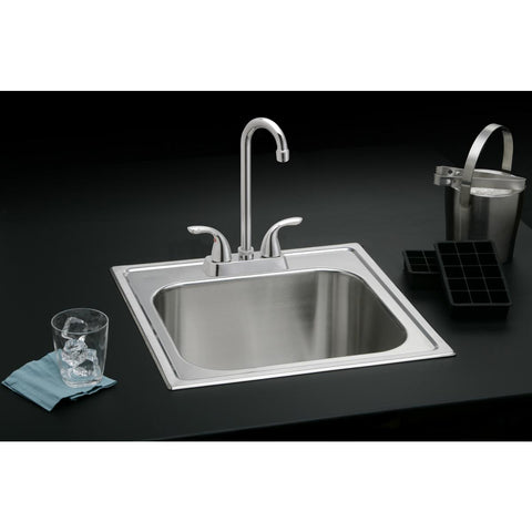 Elkay LK2477CR Everyday Bar Deck Mount Faucet and Lever Handles Chrome