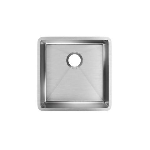 "Elkay Crosstown 19"" Stainless Steel Kitchen Sink, Polished Satin, ECTRU17179T"