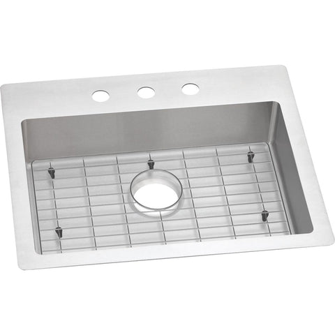 "Elkay Crosstown 25"" Stainless Steel Kitchen Sink Kit, Polished Satin, ECTSRAD25226TBG3"