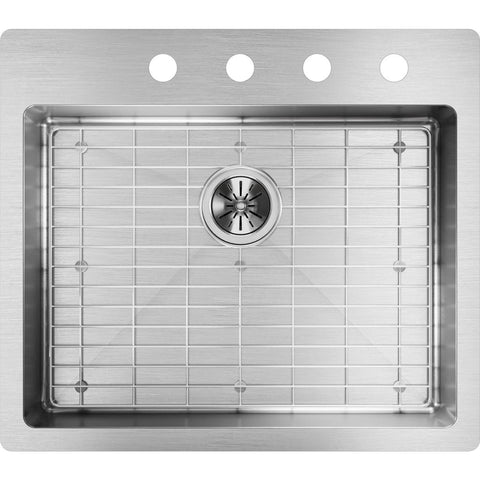 "Elkay Crosstown 25"" Stainless Steel Kitchen Sink Kit, Polished Satin, ECTSRAD25226TBG4"