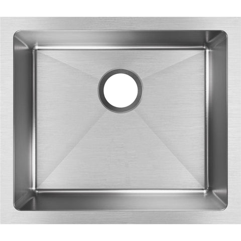 "Elkay Crosstown 22"" Stainless Steel Kitchen Sink, Polished Satin, EFRU191610T"