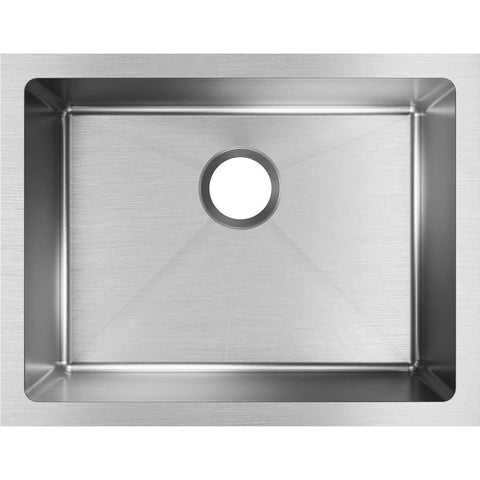 "Elkay Crosstown 24"" Stainless Steel Kitchen Sink, Polished Satin, EFRU211510T"