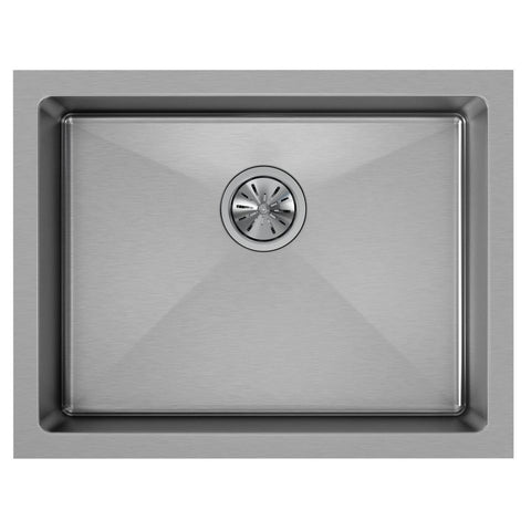 "Elkay Crosstown 24"" Stainless Steel Kitchen Sink, Polished Satin, EFRU2115T"