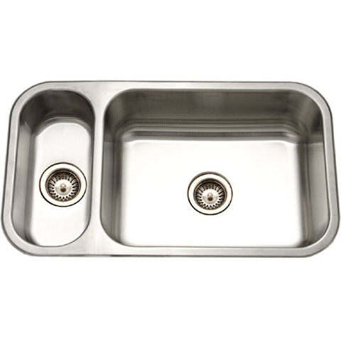 "Houzer 32"" Stainless Steel Undermount Double Bowl Kitchen Sink, Reversible, EHD-3118-1"