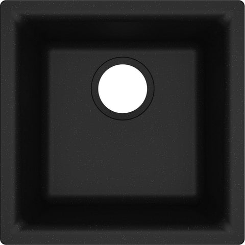 "Elkay Classic 16"" Quartz Bar Sink, Black, ELG1616BK0"