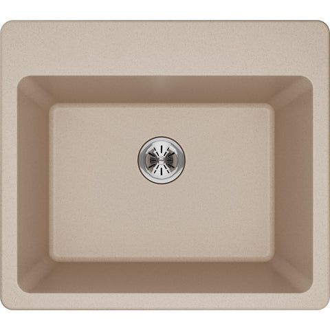 "Elkay Classic 25"" Quartz Laundry Sink, Putty, ELG252212PDPT0"