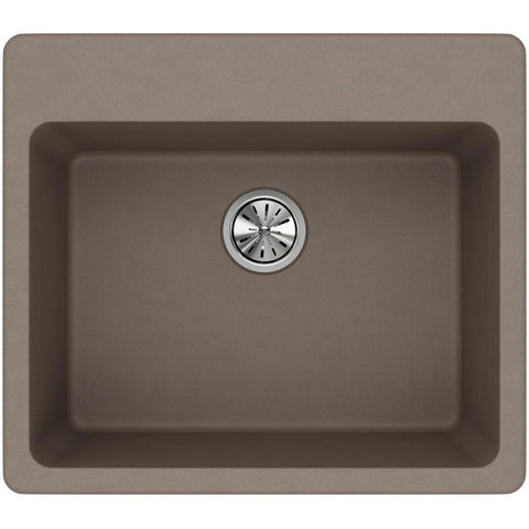 "Elkay Classic 25"" Quartz Kitchen Sink, Greige, ELG2522GR0"