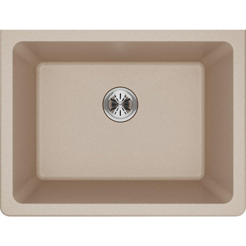 "Elkay Classic 25"" Quartz Laundry Sink, Putty, ELGU251912PDPT0"