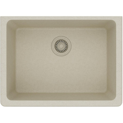 "Elkay Classic 25"" Quartz Kitchen Sink, Bisque, ELGU2522BQ0"