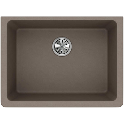 "Elkay Classic 25"" Quartz Kitchen Sink, Greige, ELGU2522GR0"