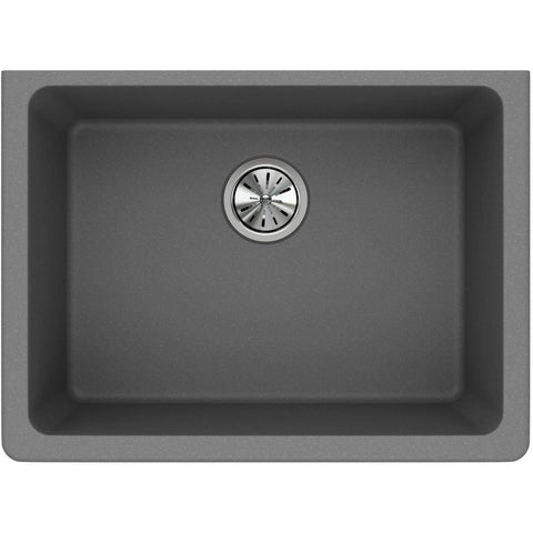 "Elkay Classic 25"" Quartz Kitchen Sink, Greystone, ELGU2522GS0"