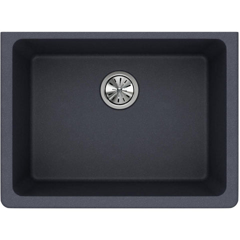 "Elkay Classic 25"" Quartz Kitchen Sink, Dusk Gray, ELGU2522GY0"