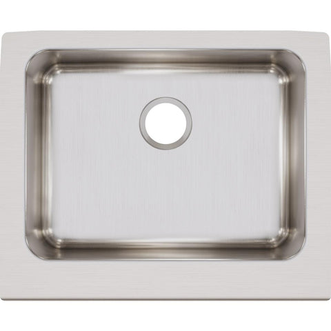 "Elkay Lustertone Classic 25"" Stainless Steel Farmhouse Kitchen Sink, Lustrous Satin, ELUHF2520"