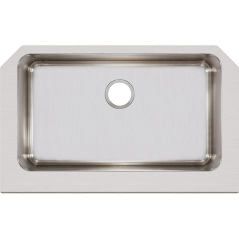 "Elkay Lustertone Classic 33"" Stainless Steel Farmhouse Kitchen Sink, Lustrous Satin, ELUHFS2816"