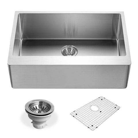 "Houzer 23"" Stainless Steel Premium Farmhouse Apron Front Kitchen Sink, ENS-3020"