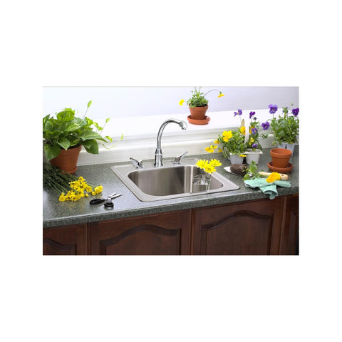 "Elkay Celebrity 20"" Stainless Steel Laundry Sink, Brushed Satin, ESE2020101"