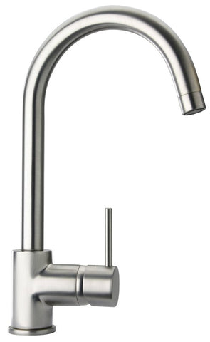 Latoscana Elba Single Handle Pull Down Kitchen Faucet, Stream Only, Brushed Nickel, 78PW591 - The Sink Boutique