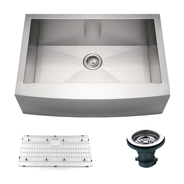 "Empire Industries Loft 33"" Stainless Steel Farmhouse Sink, F33C"